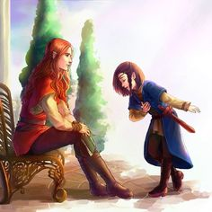 and their friendship began… by niyochara  Fingon introduces himself to Maedhros