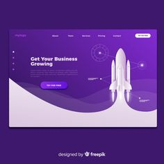 Landing page template Vector Web Design Examples, Creative Web Design, Web Design Tips, Web Design Tutorials, App Ui Design, Landing Page Builder, Landing Page Design, Best Landing Pages, Page Template