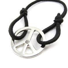 """Bracelet """"Peace"""" black. Les Tresors de Lily. $6.00. Save 50%!"""