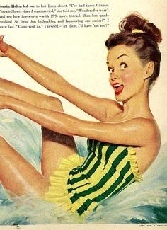 vintage pinup swimwear 1948 advertisement
