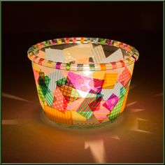 """DIY Windlicht ♥ Bastelidee: Windlicht mit masking tape bekleben ♥ Bastelideen und kostenlose Bastelanleitungen im Bastelmagazin """"Alles rund ums Basteln"""""""