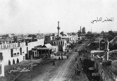 بغــداد - الباب المعظم ( الباب الشمالي )  أخذت من فوق بوابة بغداد الشمالية باتجاه ساحة الميدان  1917 - 1919