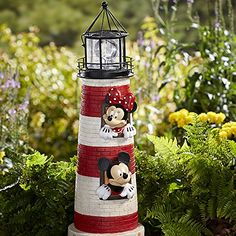 Disney Outdoor Decor Mickey and Minnie Mouse Ligthouse wi...