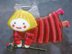 Fused Glass Angel Ornament / Suncatcher by NOTUM on Etsy, $19.00