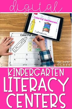 Looking for some phonics centeres that your students will love? These kindergarten literacy centers come with a fun digital component as well as a kindergarten worksheet so they can practice literacy skills like cvc words.