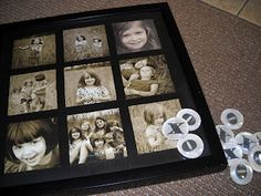 Cute multiple picture hangings to make