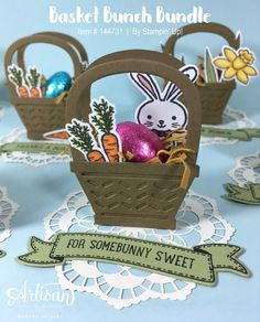 Create adorable little party favours with the Basket Bunch Bundle from Stampin' Up!