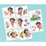 These Dora the Explorer Tattoos will be a hit with your explorers. These temporary tattoos feature Dora and the gang, ready to go on and come off easily. Each package contains 16 tattoos on perforated sheets. Disney Balloons, Helium Balloons, Latex Balloons, Wholesale Party Supplies, Kids Party Supplies, Wedding Balloons, Birthday Balloons, Balloon Decorations, Baby Shower Decorations