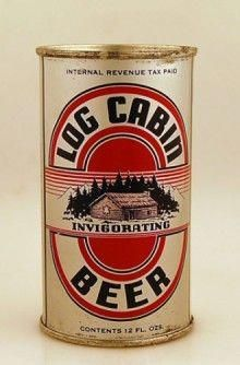 Vintage Log Cabin Beer Can Beer Company, Brewing Company, Beer Can Collection, Craft Bier, Old Beer Cans, Beer Brands, Home Brewing Beer, Root Beer, Ale Beer