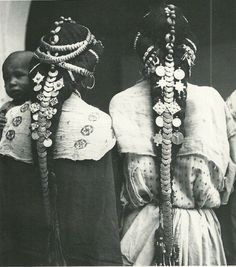 Africa   Hair ornaments of the Ziz Valley, Morocco. Photo by Jean Besancenot. Thank you Carolena & Christophe!