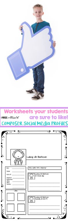 Such a fun way to engage students in composer units! I added this worksheet to m… Such a fun way Besties, Music Worksheets, Ways Of Learning, Teaching Music, Teaching Resources, Music Composers, Elementary Music, Music Classroom, Student Engagement