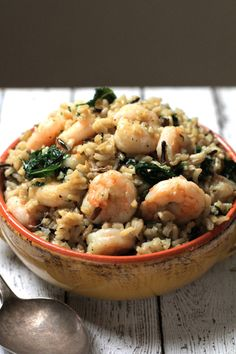 Shrimp, Kale, and Wild Rice Melody - Live Simply