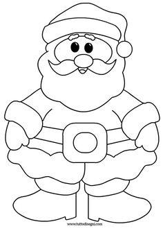 Christmas Wood Crafts, Christmas Activities, Felt Christmas, Christmas Colors, Holiday Crafts, Christmas Decorations, Christmas Ornaments, Easy Santa Drawing, Santa Claus Drawing