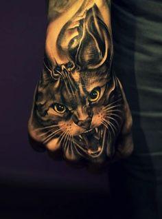 Impressive cat hand piece