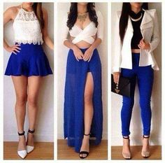 Blue & White Outfits = Beautiful