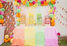 Popsicle-themed birthday party for Eloise