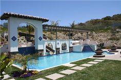 Hacienda style swimming pool