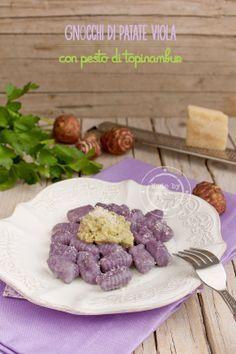 Fiordirosmarino: Gnocchi di patate viola con pesto di topinambur