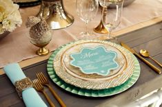 Mint and Gold Winter Wedding Inspiration by Utah Events by Design Chic Wedding, Gold Wedding, Wedding Table, Wedding Blog, Dream Wedding, Wedding Ideas, Reception Table, Wedding Mandap, Wedding Menu