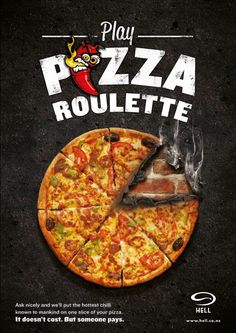 Funny pictures about Pizza Roulette. Oh, and cool pics about Pizza Roulette. Also, Pizza Roulette photos. Pizzeria, Pizza Restaurant, Allo Pizza, Roulette Russe, Spicy Pizza, Pizza Chains, Pizza Games, Food Menu Design, Russian Roulette