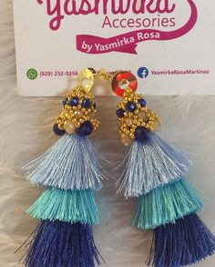 Listos y vendidos!!  #aretes #earring #borlas #cristales #handmade #handmadeaccesory #loveit