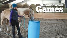 Make the most of winter and improve your relationship with your horse with five fun groundwork exercises from trainer Lindsey Partridge. Horse Riding Games, Trail Riding Horses, Horse Games, Ground Work For Horses, Work Horses, Horse Training Tips, Horse Tips, Horse Photos, Horse Pictures