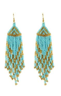 colored bead and fringe earrings $9.50