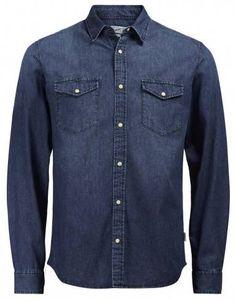 100% Cotton Slim fit JACK & JONES Men's Long Sleeve Denim Shirt.