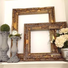 French gold frames for sale at HallstromHome http://shop.hallstromhome.com/collections/open-frames-1/products/copy-of-unique-copper-color-wall-frame-large-baroque-shabby-cottage-chic-frame-for-sale-2?variant=7722724161