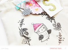 EMBROIDERED GIFT BAGS by Lilinfang at @studio_calico