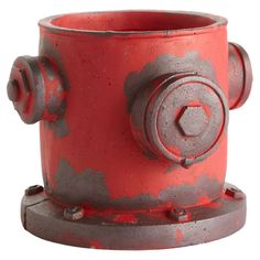 Showcasing a fire hydrant silhouette and an eye-catching red finish, this lovely ceramic cachepot is the perfect accent for your entryway console or living r...