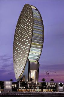 Dubai architecture buildings of the United Arab Emirates : Iris Bay Flowers Dubai U. Unusual Buildings, Interesting Buildings, Amazing Buildings, Modern Buildings, Dubai Buildings, Office Buildings, Modern Houses, Futuristic Architecture, Beautiful Architecture