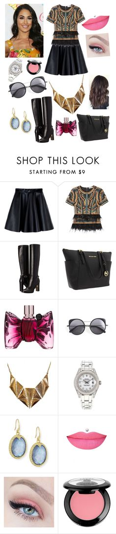 """""""Brie Bella"""" by nikkibella02 ❤ liked on Polyvore featuring MSGM, BCBGMAXAZRIA, Burberry, Michael Kors, Viktor & Rolf, Wood Wood, Ruby Rocks, Rolex, Armenta and Anastasia Beverly Hills"""