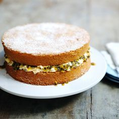 Delia shows you how to bake a perfect sponge cake with a creamy passion fruit filling.