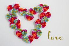 Crochet Hearts Sending Love