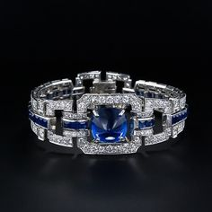 Burmese sapphire and diamond ring. I bought one similar to this and the sapphires are incredible!
