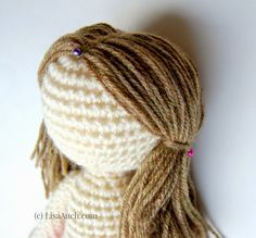 How to Crochet Dolls Hair (easy)