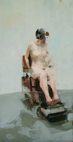 Barber Chair 24 x oil on wood Alex Kanevsky Figure Painting, Figure Drawing, Painting & Drawing, Great Paintings, Old Art, Life Drawing, Contemporary Paintings, Figurative Art, Painting Inspiration