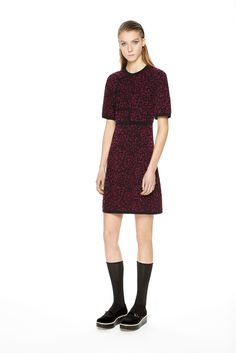 M Missoni | Fall 2015 Ready-to-Wear | 12 Purple printed short sleeve mini dress