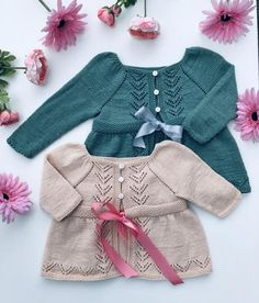 Venetia Cardigan pattern by Anne Dresow Cardigan Pattern, Work Tops, Stockinette, Baby Knitting, Feminine, Sleeves, Sweaters, Ribbon, Number