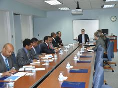 Dr. Tedros leads an Ethiopian delegation in meetings with officials from the State Department's Foreign Service Institute