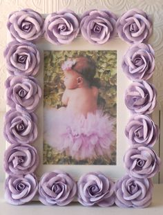 Lavender Rose Picture Frame