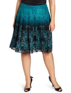 Jones New York Women`s Plus-Size Inverted Pleat Skirt $64.26