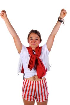 USA red candy cane striped hot shorts  | Get your USA gear and all manner of outrageous threads at Shinesty.com