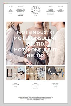 Tons of white space for gorgeous visuals to breathe. Like the logo in the middle flanked by text navigation.