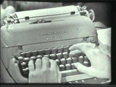 "LEAVE IT TO REMINGTON: Here is another gem from 1958, a commercial for the Remington ""Quiet-Riter typewriter. You'll note this was one of the sponsors of the wonderful Fifties' sit-com LEAVE IT TO BEAVER. The only portable typewriter with the FABULOUS FOUR! What's the Fabulous Four, you ask? Watch the commercial and find out!"