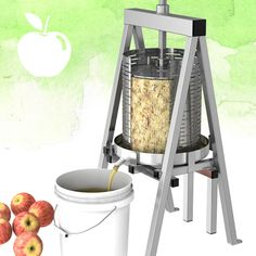Raw Rutes is excited to be offering the Harvest Fiesta 15 liter Stainless Steel Fruit and Wine Press. Fruit Press is made in the usa entirely from stainless steel. Bundle with the Harvest Fiesta Apple Crusher and Save! Apple Cider Juice, Apple Cider Press, Homemade Wine, Homemade Tools, Commercial Cooking Equipment, Wine Making Equipment, Wine Making Supplies, Wine Press, Liquor Dispenser