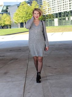 A fashion blog for women over 40 and mature women Knit-Dress: Selected Femme Boots: RAS Bag: Chloé