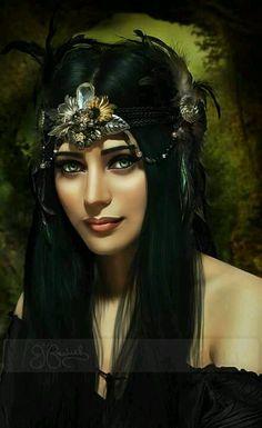 "Black Queen ("" forest goddess "" by unfeigneddreams@ deviantart)"