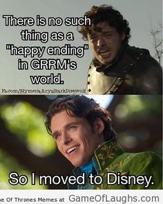 Robb Stark wants a fairy tail ending - Game Of Thrones Memes